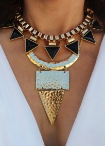 stacked necklaces
