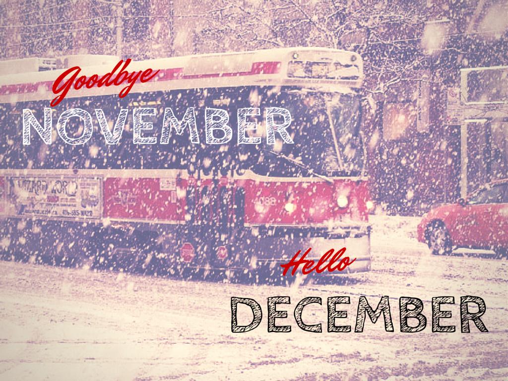Goodbye November! Hello December!