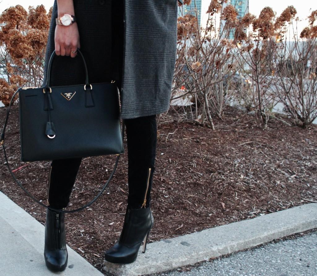 prada purse bcbg boots