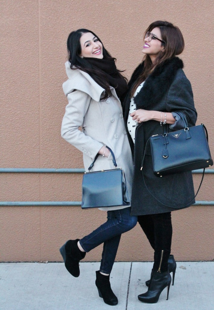 The boyfriend coat blogger