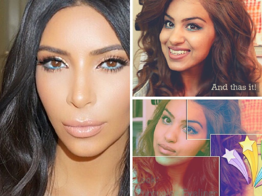 kim kardashian inspired make up