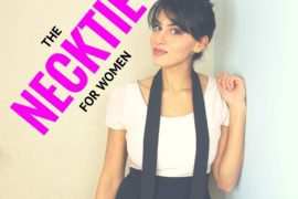 HOW TO WEAR THE NECKTIE FOR WOMEN