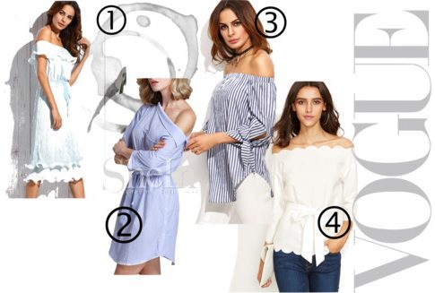 off the shoulder fashion shein