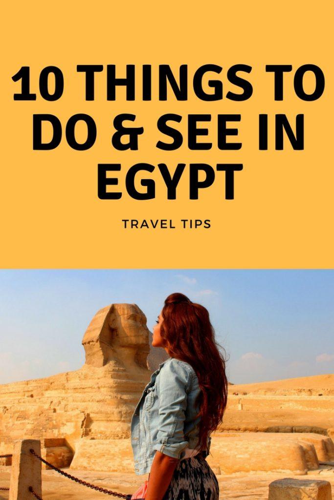 TRAVEL TO EGYPT TIPS