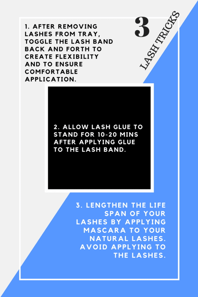 3 tips and tricks to applying false lashes